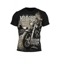T-shirt-Road is my war