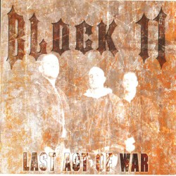 Cd Block 11 ‎– Last Act Of War